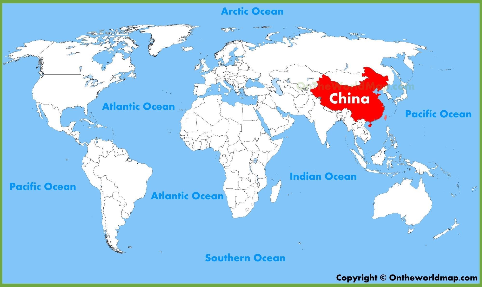Mapa Del Mundo China.China En El Mapa Del Mundo China En Un Mapa Del Mundo Asia Oriental Asia