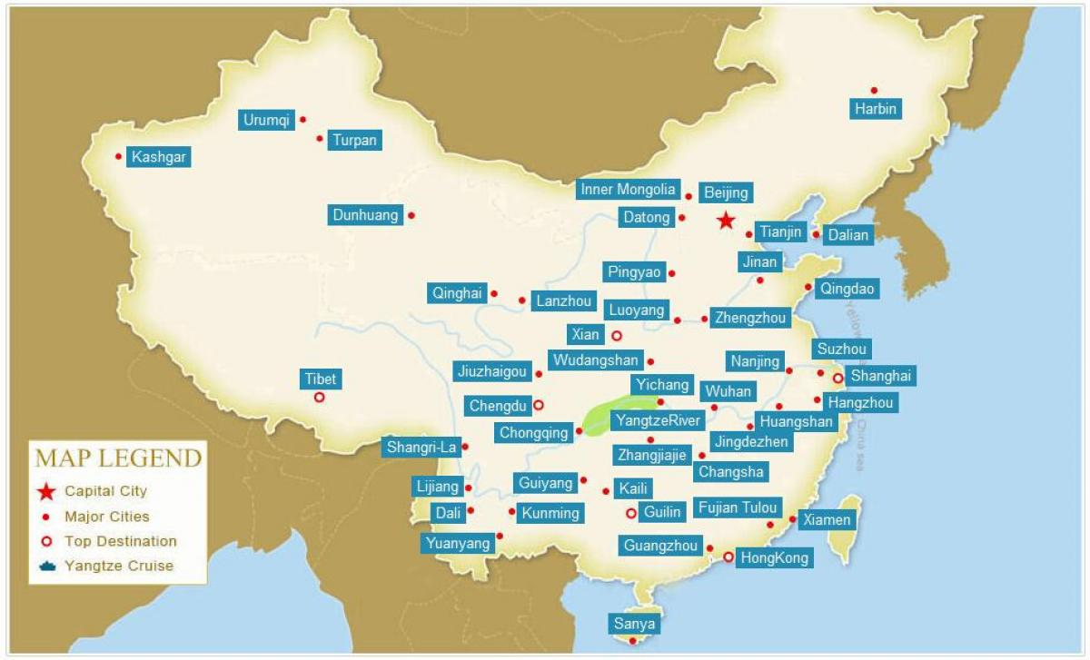 Ciudades De China Mapa.Las Ciudades Chinas Mapa Mapa De Las Ciudades Chinas Asia